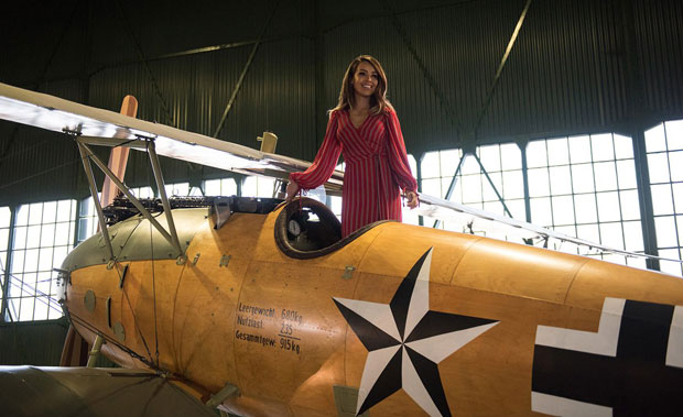 Strictly contestant Katie Piper launched the campaign with a visit to the RAF Museum in London
