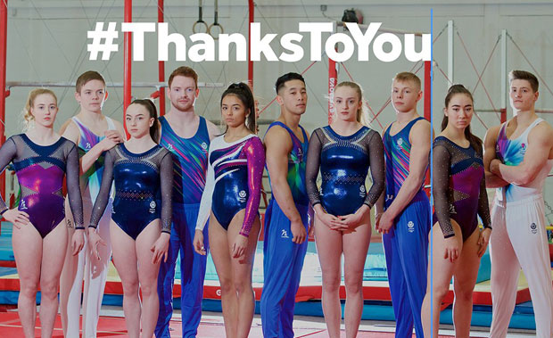 Scottish Gymnastics thanked players for everything they do to support grassroots and elite sport
