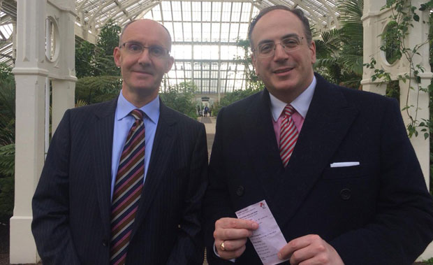 Heritage Minister, Michael Ellis used his ticket to visit Kew Gardens and see the newly restored buildings at the iconic World Heritage Site