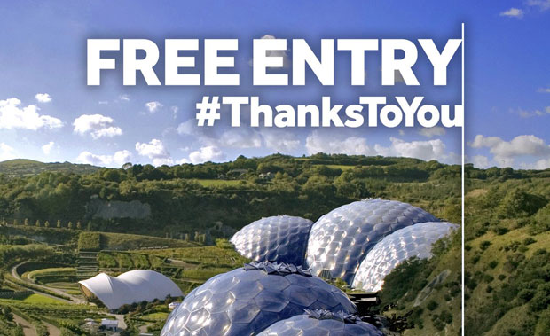 In Cornwall, players could use their tickets to gain free entry to the Eden Project