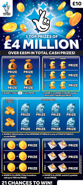 National lottery scratch cards unclaimed prizes instant